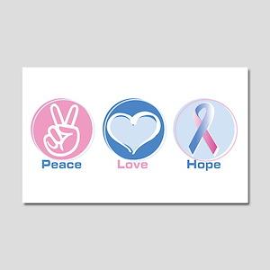 Peace Love BlPk Hope Car Magnet 20 x 12