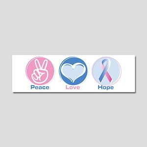 Peace Love Bl Pk Hope Car Magnet 10 x 3