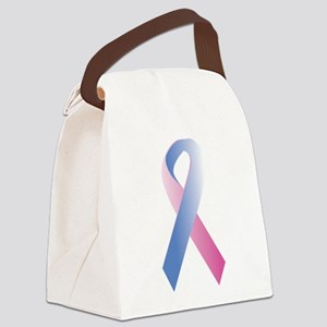 Pink Blue Awareness Canvas Lunch Bag