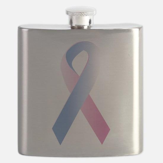 Pink Blue Awareness Flask