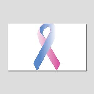 Pink Blue Awareness Car Magnet 20 x 12