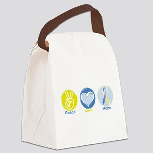 Peace Love BlYel Hope Canvas Lunch Bag