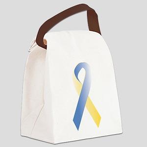 BlueYellow Ribbon Canvas Lunch Bag