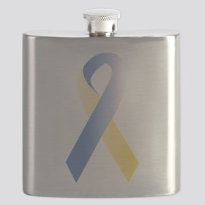 BlueYellow Ribbon Flask