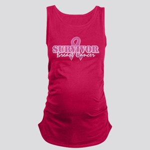 Survivor Breast Cancer Maternity Tank Top