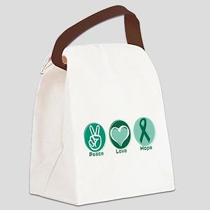 Peace Love Gr Hope Canvas Lunch Bag