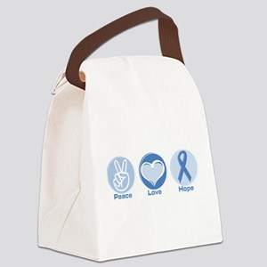 Peace LtBl Hope Canvas Lunch Bag