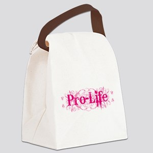Pro-Life (pink) Canvas Lunch Bag