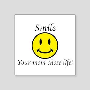 "Smile Jesus Square Sticker 3"" x 3"""