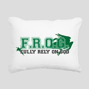FROG Green Rectangular Canvas Pillow