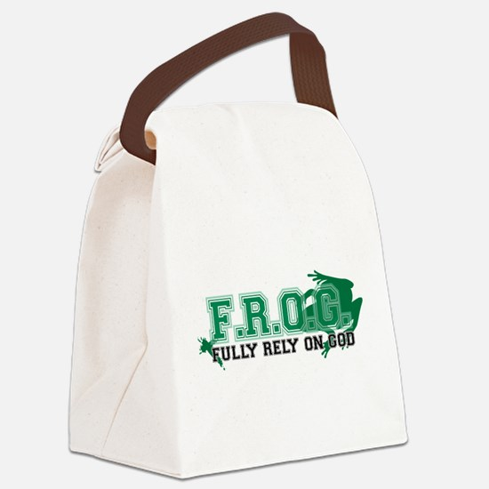 FROG Green Canvas Lunch Bag