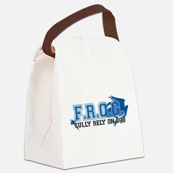 FROG blue Canvas Lunch Bag