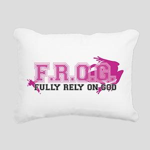 FROG pink Rectangular Canvas Pillow
