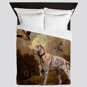 duck hunter hunting dog Queen Duvet