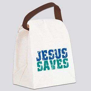 Jesus Saves Canvas Lunch Bag