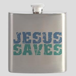 Jesus Saves Flask