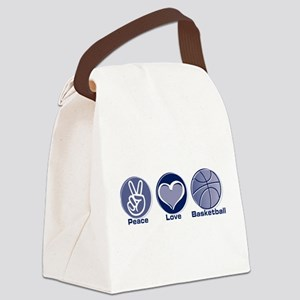 Peace Love Basketball Canvas Lunch Bag
