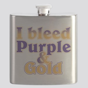 Bleed Purple and Gold Flask