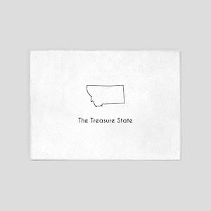 The Treasure State 5'x7'Area Rug