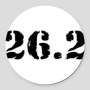 26.2 - Marathon Round Car Magnet