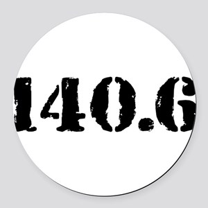 140.6 Round Car Magnet