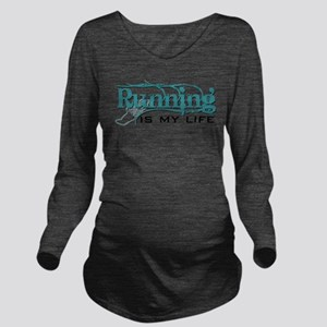 Running is my life bc Long Sleeve Maternity T-Shir