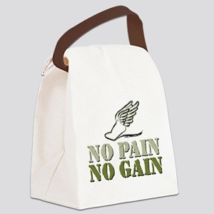 No Pain No Gain Track Canvas Lunch Bag