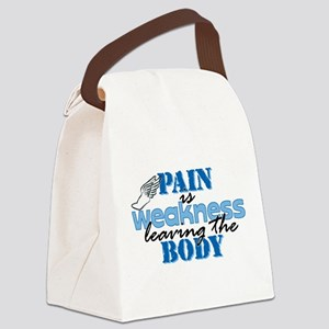 Pain is weakness track Canvas Lunch Bag