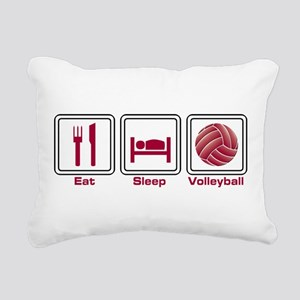 Eat Sleep Volleyball Rectangular Canvas Pillow