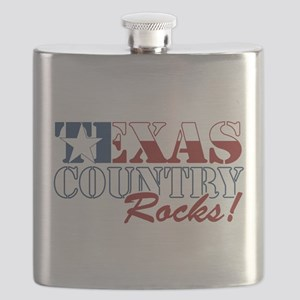 Texas Country Rocks Flask