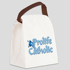 Prolife Catholic Cross Canvas Lunch Bag