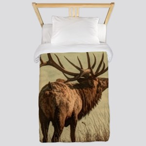 rustic western wild elk Twin Duvet