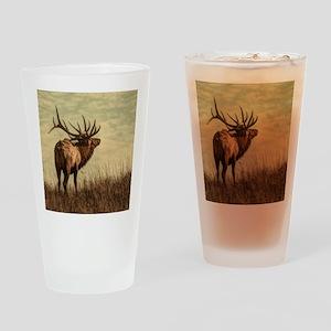 rustic western wild elk Drinking Glass