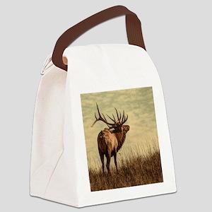 rustic western wild elk Canvas Lunch Bag
