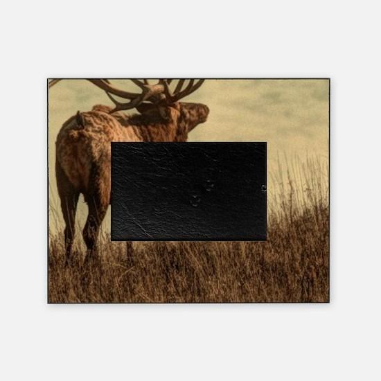 rustic western wild elk Picture Frame