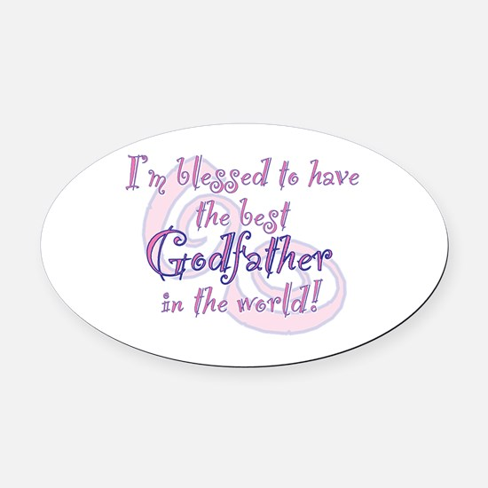 Blessed Godfather PK Oval Car Magnet