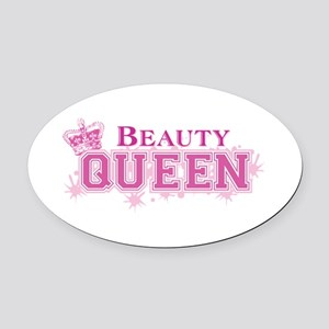 Beauty Queen Oval Car Magnet