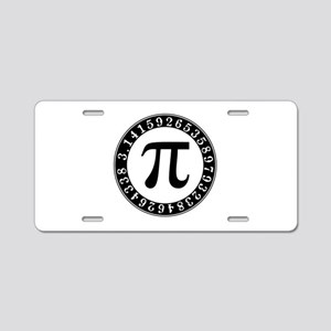 Pi symbol circle Aluminum License Plate