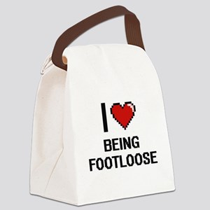 I Love Being Footloose Digitial D Canvas Lunch Bag
