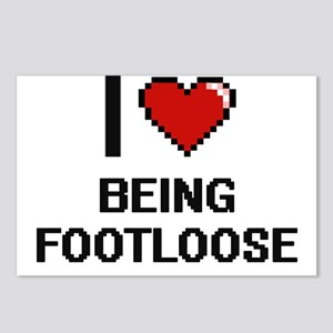 I Love Being Footloose Di Postcards (Package of 8)