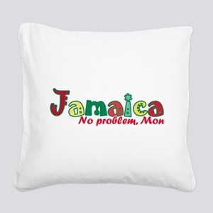 Jamaica No Problem Square Canvas Pillow