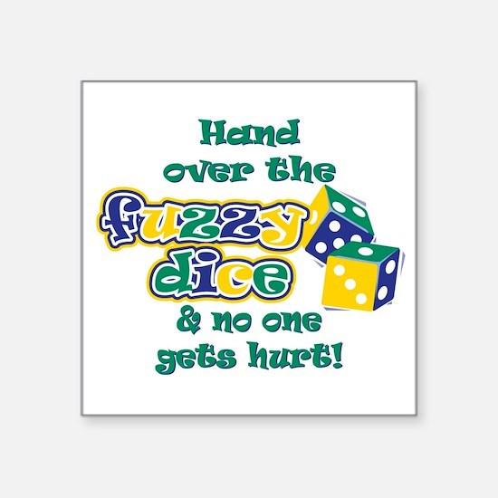 "Cute Get fuzzy Square Sticker 3"" x 3"""
