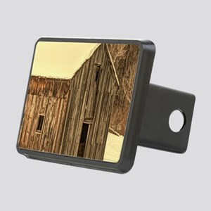 western winter old barn Rectangular Hitch Cover