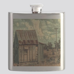 rural distressed old farm  Flask
