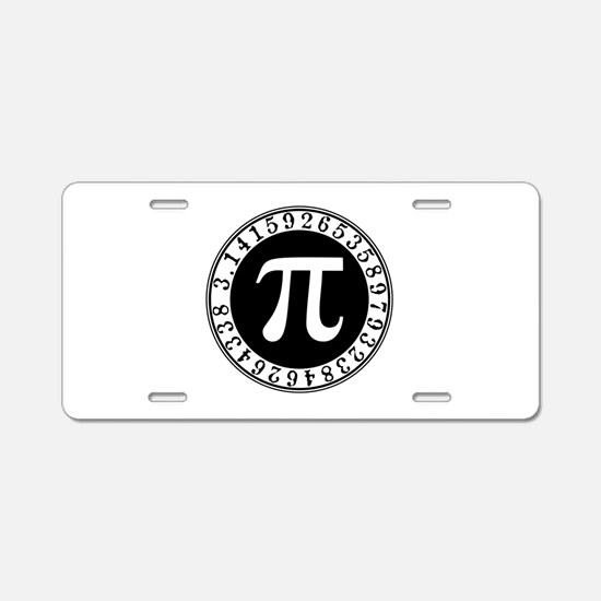 Pi sign in circle Aluminum License Plate