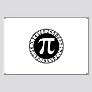 Pi sign in circle Banner