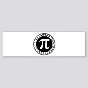 Pi sign in circle Bumper Sticker