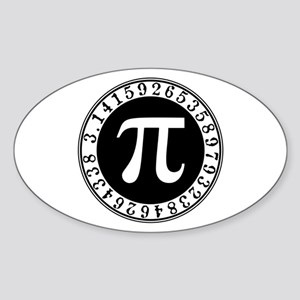 Pi sign in circle Sticker
