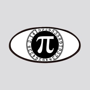 Pi sign in circle Patch
