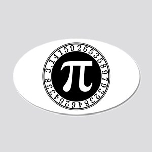 Pi sign in circle Wall Sticker
